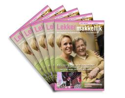 Zorgmagazine 'Lekker Makkelijk' DrieGasthuizenGroep Arnhem